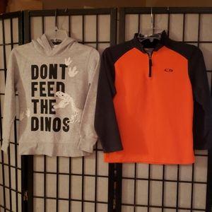 Lot of 2 Boy's (1) Sweatshirt and (1) Fleece Top